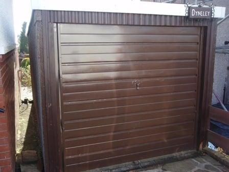 Old canopy door before replacement