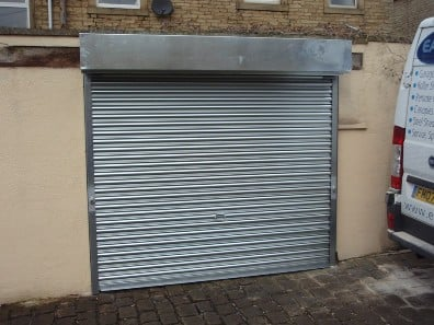 New metal roller shutter door