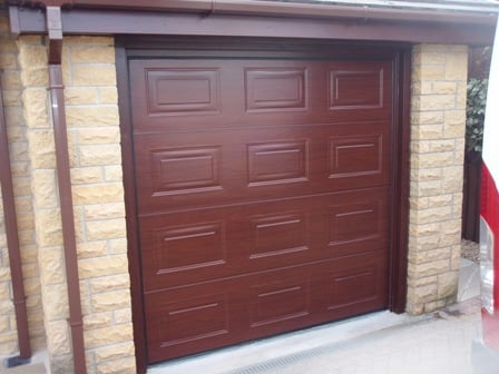 Novoferm Georgian Panelled Rosewood Sectional Door